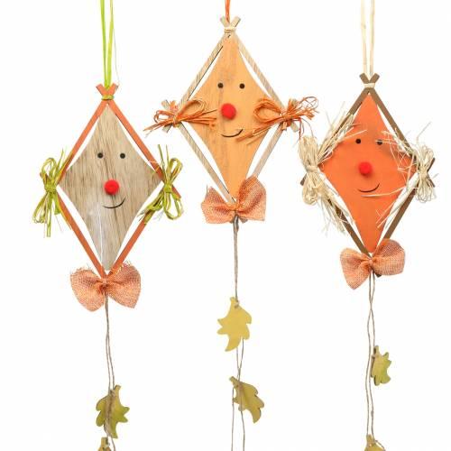 Fall dekoration drage til at hænge 20 cm x 13 cm 3 stk