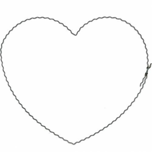 Trådhjerter 20cm bølge ringe krans bøjler hjerte 10stk
