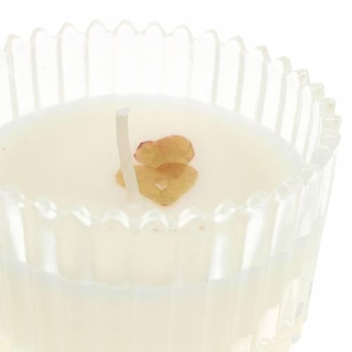 """Duftlys """"Festlig frugt og vanilje"""" Ø6,5cm H9cm"""