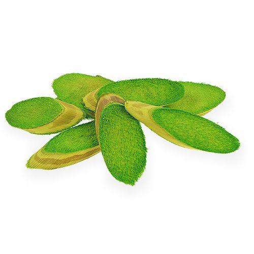 Dekorative træskiver forårgrøn 300g