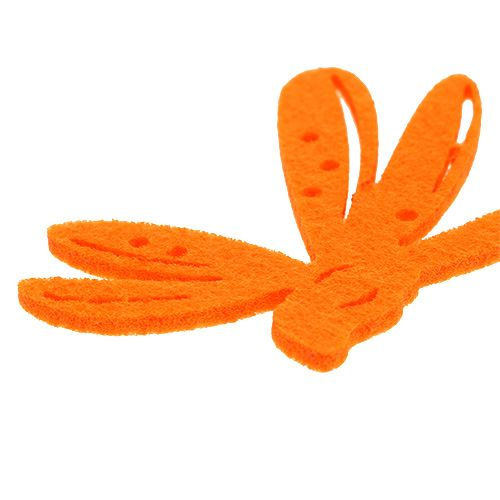 Filt scatter dekoration orange 24stk