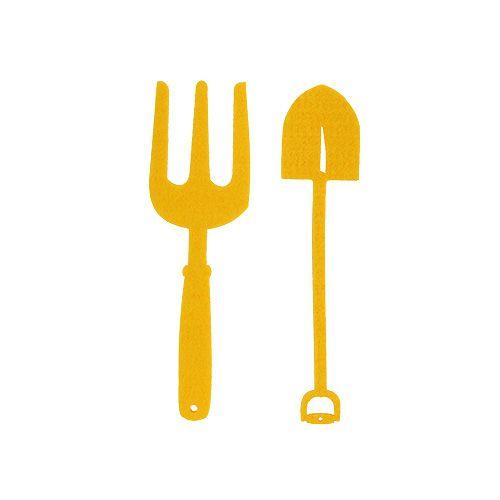 Filt haveværktøj gul 6stk