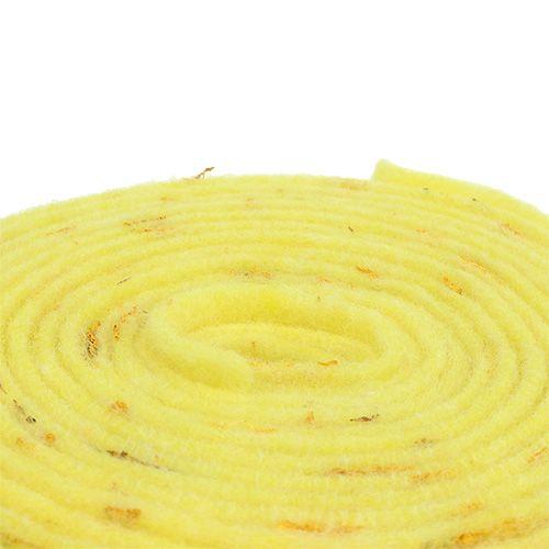 Filt bånd følelser gul 15cm 5m