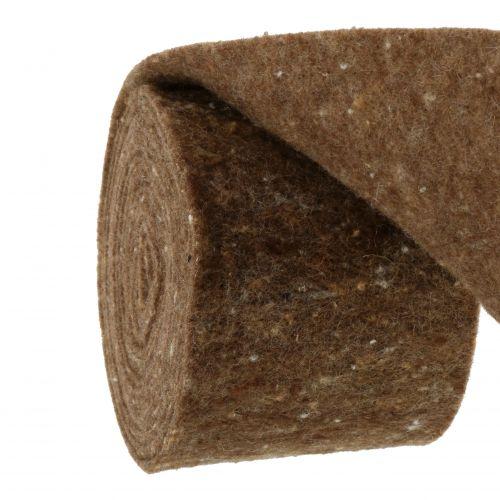 Filtbånd, potbånd brun 15 cm 5m