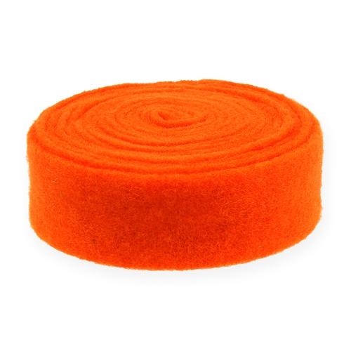 Filtbånd orange 7,5 cm 5m
