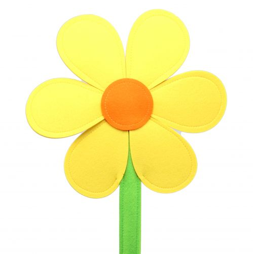 Filt blomstergul 87cm