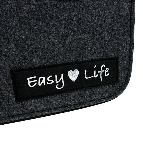 "Filtpose ""Easy Life"" 39cm x 22cm x 25.5cm grå"