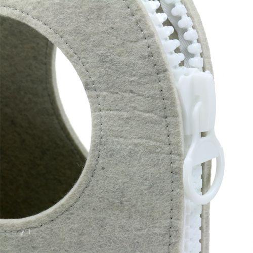 Filt taske grå H58cm