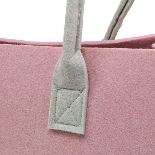 Filtpose lyserød 50 cm x 25 cm x 25 cm