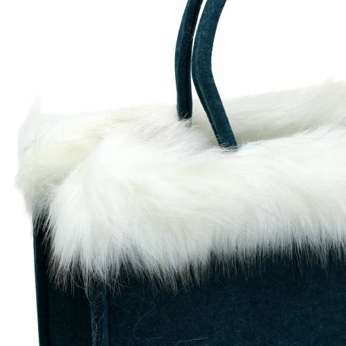 Filtpose med pelskant benzin 38 cm x 24 cm x 20 cm