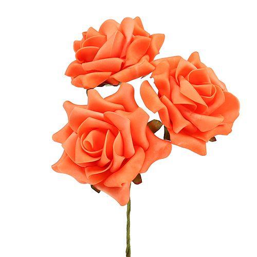 Foam Rose Ø 10cm Orange 8stk