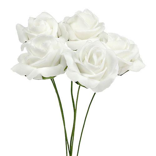 Foam Rose Ø4,5cm hvid 36stk