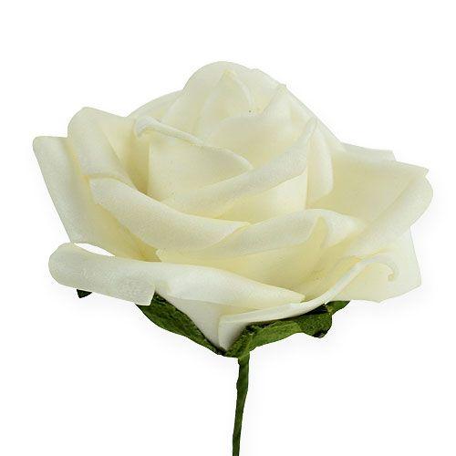 Skum-rose Ø6cm creme 27stk