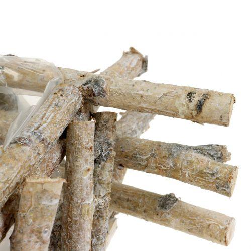 Plantebeholder birkegrener hvidvasket 28 cm x 28 cm H10cm