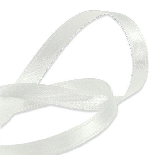 Gave- og dekorationsbånd hvid 6mm 50m