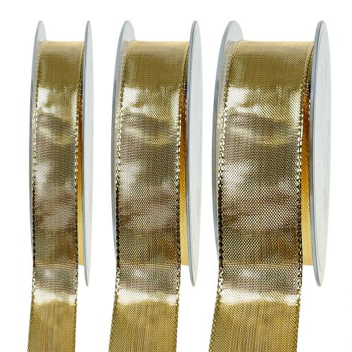 Guldbånd med trådkant 25m