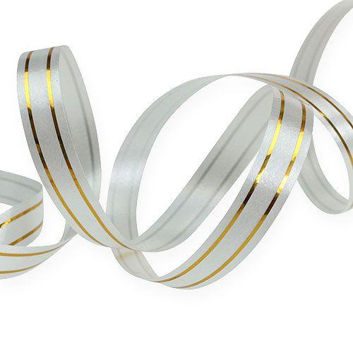 Delte bånd 2 guldstrimler på sølv 10 mm 250m