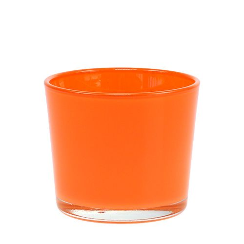 Glasplanter orange Ø10cm H8.5cm
