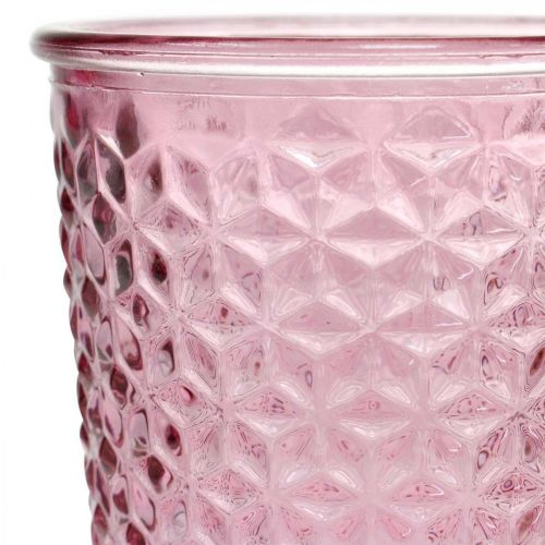 Lysekop, kopglas, lanterne, glasdekoration Ø10cm H18,5cm