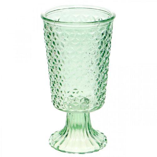 Glaslygte, kopglas med bund, glasbeholder Ø10cm H18,5cm