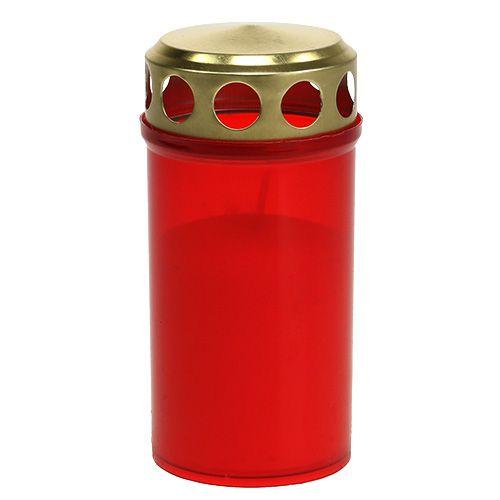 Grave stearinlys cylindrisk rød Ø6cm H12cm 12stk