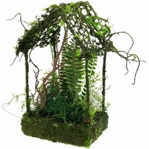 Mos dekoration græs hus med kunstig mos og bregne