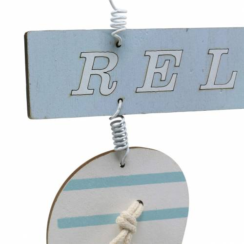 Flip flops til hængende træ lyseblå 23 × 14cm 6stk