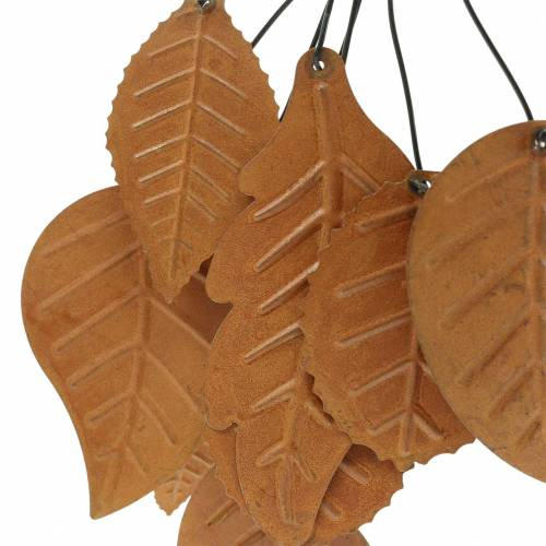 Dekorativ bøjle efterårsblade patina metal H25cm 2stk