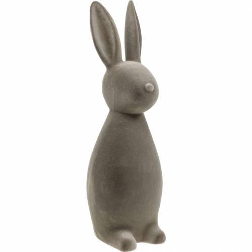 Kanin mørkegrå flokket påskehare påske dekoration borddekoration påske