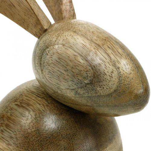 Siddende træbunny, dekorativ bunny, trædekoration, påske 18cm