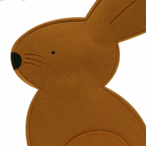 Dekorativ kaninsitting følte lysebrun 40cm x 7cm H61cm påskedekoration, butiksvindue