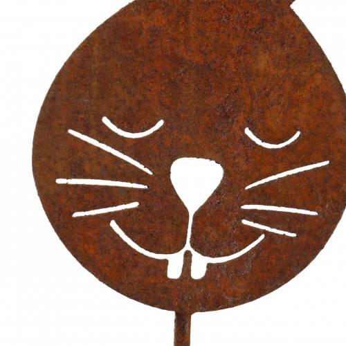 Hasenkopf metalstik rust H52,5cm