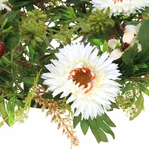 Efterårkrans krysantemum hvid Ø30cm