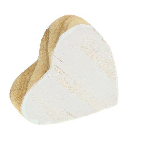 Træhjerte i en taske 2cm - 4cm 24pcs
