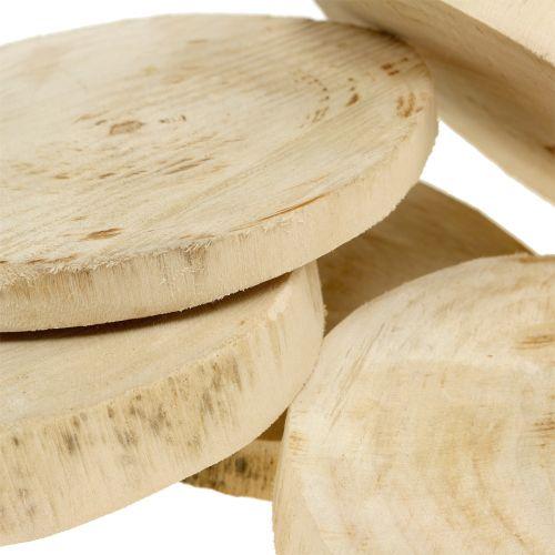 Træskiver naturlige Ø11cm - 13cm 5stk