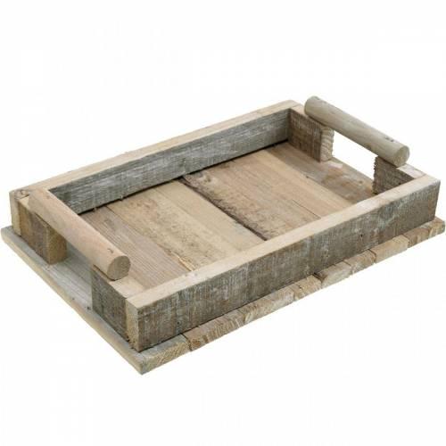 Træbakke, borddekoration, bakke til dekoration, trædekoration 31cm