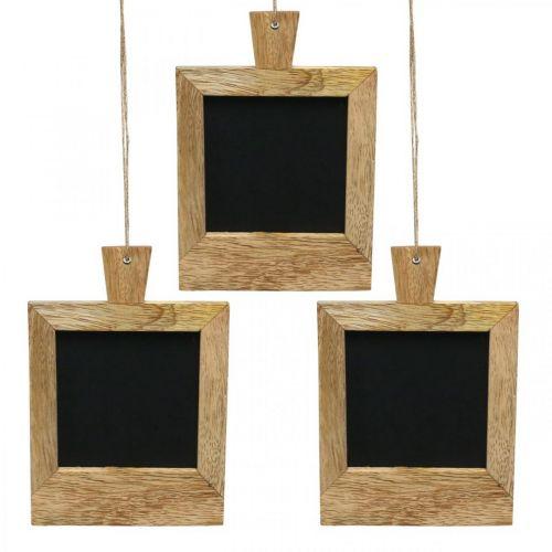Mini deco board til at hænge naturen 9 × 13cm 3 stk