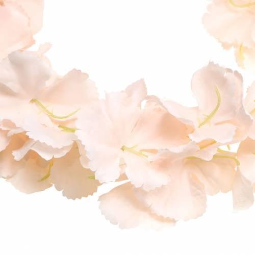 Dekorativ blomsterkrans kunstig abrikos 135 cm 5-streng