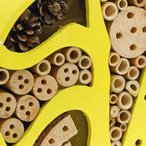 Insekthotel rundt gul Ø25cm