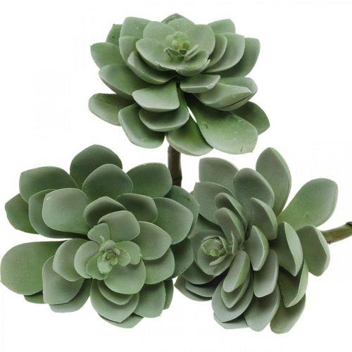 Kunstig saftig plantedekoration kunstige planter grøn 11 × 8,5cm 3stk