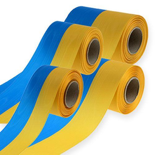 Kransebånd moiré blå-gul