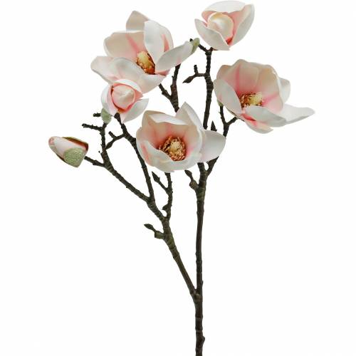 Magnolia gren lyserøde kunstige magnolia silke blomster