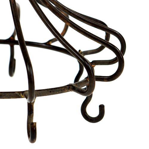 Metal krone til hængende brun