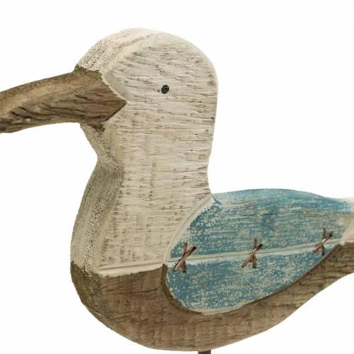 Måge træblå hvid 20cm × 5cm H25cm