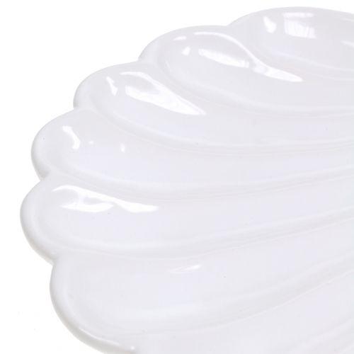 Dekorativ shell shell hvid 15cm x 16cm 3stk