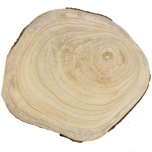 Træskive blå klokke træ natur Ø40-50cm