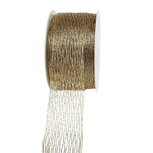 Mesh bånd guldforstærket 40mm 15m