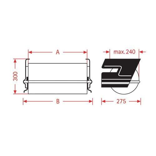 Papirfolie under borddispenser ZAC 50cm