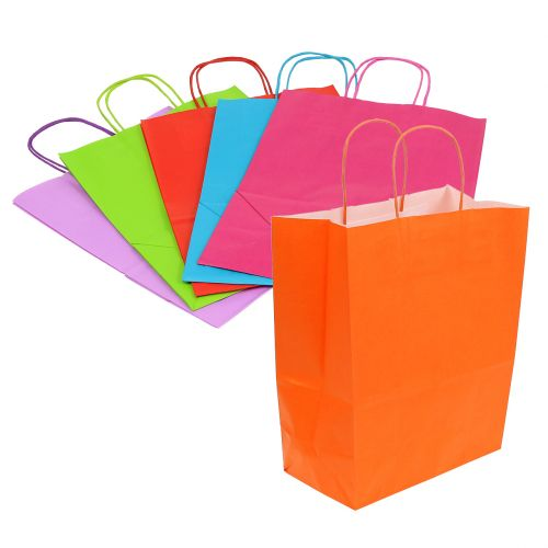 Papirbærerpose 30cm x 23cm x 12cm farvet 30stk