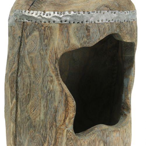 Dekorativ skulptur Paulownia træ Ø15cm H39cm